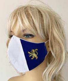Koningsdag / EK mondkapje Holland rood wit blauw met leeuw (m/v)