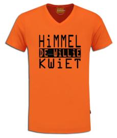 "Oranje Koningsdag t-shirt ""Himmel de Willie kwiet"""