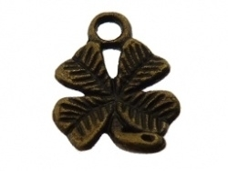 Bedel - Metaal klavertje 4 antiek brons