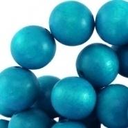 Houten kraal rond 6 mm Sky blue