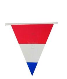Vlaggenlijn / slingers Nederlandse vlag rood wit blauw