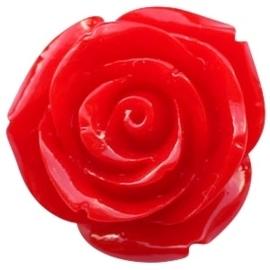 Kraal roos 11 mm Rood
