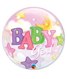 """Geboorte meisje bubble ballon """"Baby Girl"""""""