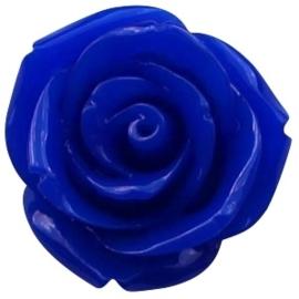 Kraal roos 11 mm Cobalt blue