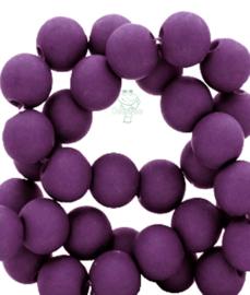 Acryl kralen mat rond 8mm Tillandsia purple