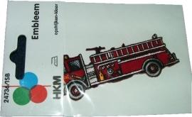 Opstrijkbare applicaties - Amerikaanse brandweerwagen