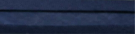 Biasband donkerblauw 40 mm gevouwen en ongevouwen