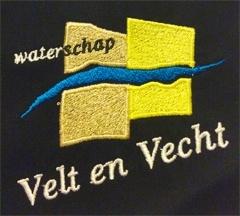 Borduren badge Waterschap Velt en Vecht