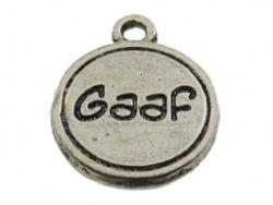 Bedel - Metaal oudzilver met tekst Gaaf