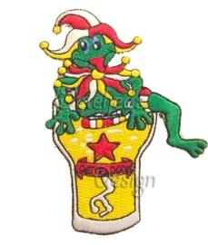 Embleem oetel op bierglas