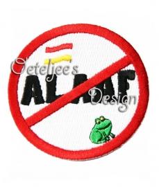 Oeteldonks anti alaaf carnavalsembleem met kikker