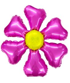 Folie ballon bloem fuchsia
