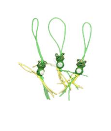 Gelukspoppetje kikker geel groen