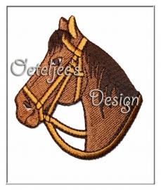 Geborduurde applicatie paard