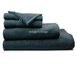 Geborduurde handdoek met eigen naam of tekst antraciet