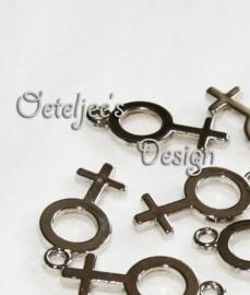 Bedel - Vrouwsymbool metallook