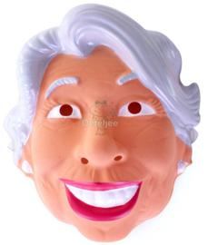 Masker Sarah lachend