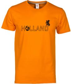 EK voetbal t-shirt heren oranje korte mouw Holland en leeuw