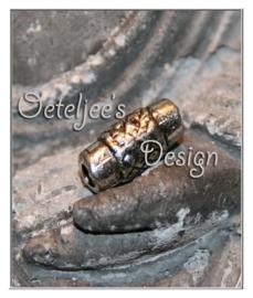 Kralen - Metallook buisje bewerkt