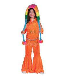 Jumpsuit kinderen fluor oranje
