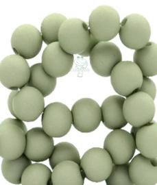 Acryl kralen mat rond 6 mm Misty grey-green