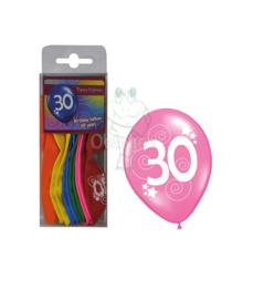 Ballonnen set verjaardag 30 jaar