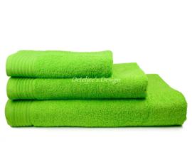 Geborduurde handdoek met eigen naam of tekst lime
