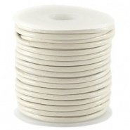 DQ Leer rond 2 mm Afterglow white