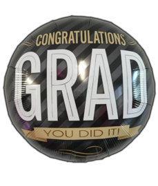 "Folie ballon ""Congratulations grad you did it!"""