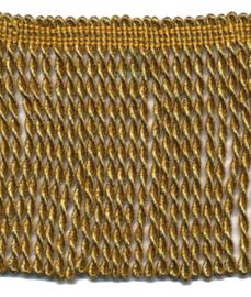 Franjeband goud lurex 10 cm