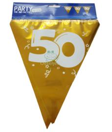 Vlaggenlijn goud Abraham / Sarah 50 jaar