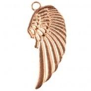 Bedel/hanger vleugel roze gold
