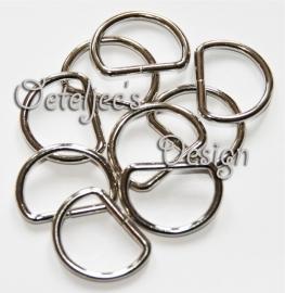 Fournituren - D-ringen 25mm en 38 mm