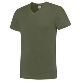 Tricorp T-shirt V-hals  slim fit 101005/TFV160 met bedrukking