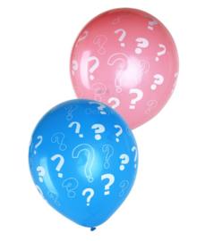 Gender reveal ballonnen jongen of meisje
