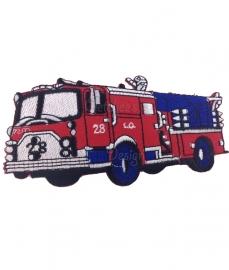 Geborduurde applicatie Amerikaanse brandweerauto