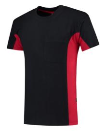 Tricorp T-shirt bicolor borstzak 102002/TT2000 met bedrukking