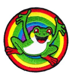 Oeteldonk embleem oetel in regenboogkleuren