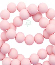 Acryl kralen mat rond 6 mm Powder pink