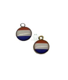 Bedeltje Holland rood wit blauw goud/zilver