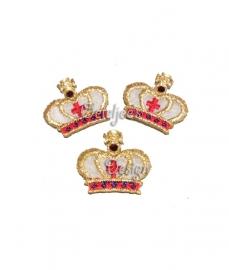 Mini kroontje goud opstrijkbaar