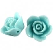 Kraal roos 12 mm Licht azuur blauw