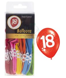 Ballonnen set verjaardag 18 jaar