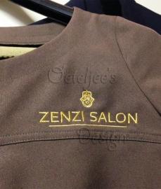 Borduren bedrijfskleding Zenzi Salon