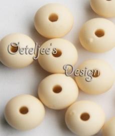 Acryl kralen Mat zacht beige geel 8 mm rond