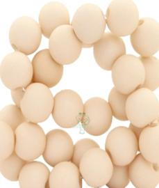 Acryl kralen mat rond 6 mm Semolina beige