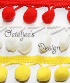 Bolletjesband Oeteldonk rood, wit en geel