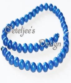 Houten kraal 8 mm donker blauw