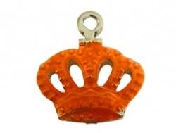 Bedel - Kroontje metaal oranje