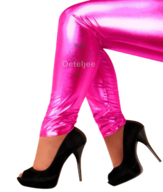 Legging pink metallic